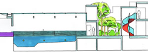 Long section of pool